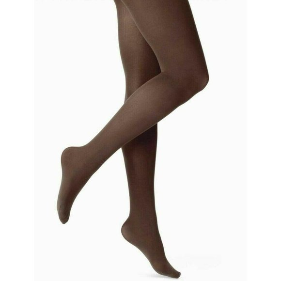 A NEW DAY WOMEN'S 50D OPAQUE TIGHTS S/M BROWN E48